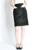 Saint Laurent Rive Gauche Vintage Black Suede Skirt - Amarcord Vintage Fashion  - 3