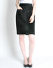 Saint Laurent Rive Gauche Vintage Black Suede Skirt - Amarcord Vintage Fashion  - 4