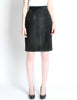 Saint Laurent Rive Gauche Vintage Black Suede Skirt - Amarcord Vintage Fashion  - 2