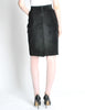 Saint Laurent Rive Gauche Vintage Black Suede Skirt - Amarcord Vintage Fashion  - 5