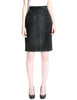 Saint Laurent Rive Gauche Vintage Black Suede Skirt - Amarcord Vintage Fashion  - 1