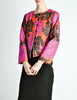 Saint Laurent Rive Gauche Vintage Quilted Silk Chrysanthemum Jacket - Amarcord Vintage Fashion  - 2