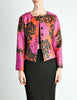 Saint Laurent Rive Gauche Vintage Quilted Silk Chrysanthemum Jacket - Amarcord Vintage Fashion  - 3