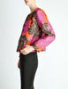 Saint Laurent Rive Gauche Vintage Quilted Silk Chrysanthemum Jacket - Amarcord Vintage Fashion  - 4