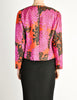 Saint Laurent Rive Gauche Vintage Quilted Silk Chrysanthemum Jacket - Amarcord Vintage Fashion  - 8