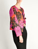 Saint Laurent Rive Gauche Vintage Quilted Silk Chrysanthemum Jacket - Amarcord Vintage Fashion  - 7