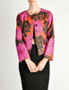 Saint Laurent Rive Gauche Vintage Quilted Silk Chrysanthemum Jacket - Amarcord Vintage Fashion  - 5
