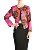 Saint Laurent Rive Gauche Vintage Quilted Silk Chrysanthemum Jacket - Amarcord Vintage Fashion  - 1