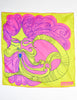 Sant'Angelo Vintage Hot Pink and Chartreuse Silk Scarf - Amarcord Vintage Fashion  - 6