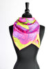 Sant'Angelo Vintage Hot Pink and Chartreuse Silk Scarf - Amarcord Vintage Fashion  - 4