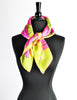 Sant'Angelo Vintage Hot Pink and Chartreuse Silk Scarf - Amarcord Vintage Fashion  - 5