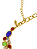 Scaasi Vintage Multicolor Gem Gold Statement Bib Necklace