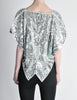 Vintage 1970s Silver Sequin Beaded Butterfly Top - Amarcord Vintage Fashion  - 6