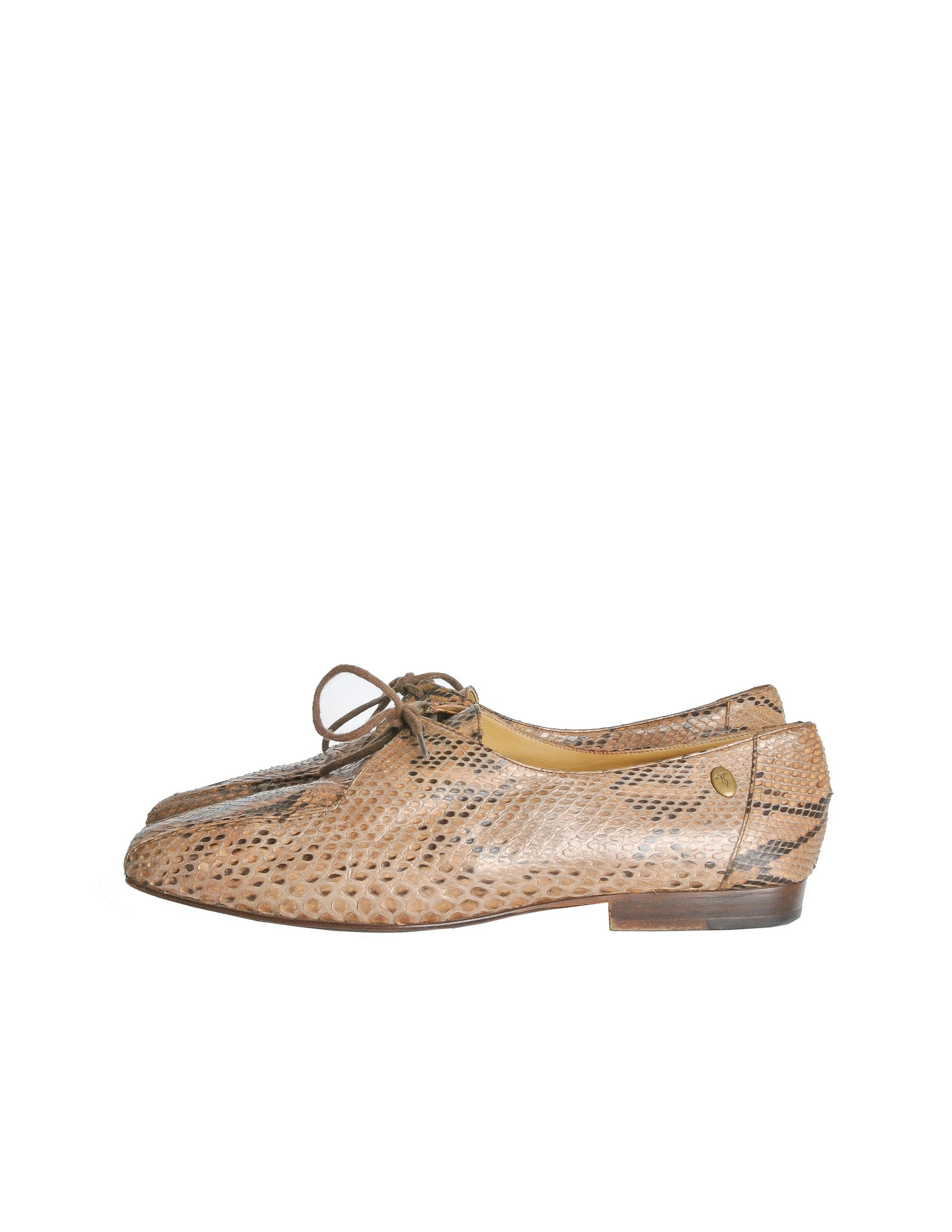 Trussardi Vintage Snakeskin Oxford Shoes - Amarcord Vintage Fashion  - 1