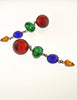 Sonia Rykiel Inscription Vintage Multicolor Rhinestone Drop Earrings - Amarcord Vintage Fashion  - 3