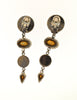 Sonia Rykiel Inscription Vintage Multicolor Rhinestone Drop Earrings - Amarcord Vintage Fashion  - 4