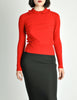 Sonia Rykiel Vintage Red Wool Peter Pan Collar Sweater - Amarcord Vintage Fashion  - 4