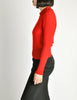 Sonia Rykiel Vintage Red Wool Peter Pan Collar Sweater - Amarcord Vintage Fashion  - 5