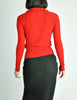 Sonia Rykiel Vintage Red Wool Peter Pan Collar Sweater - Amarcord Vintage Fashion  - 6