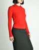 Sonia Rykiel Vintage Red Wool Peter Pan Collar Sweater - Amarcord Vintage Fashion  - 2