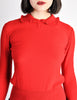 Sonia Rykiel Vintage Red Wool Peter Pan Collar Sweater - Amarcord Vintage Fashion  - 3