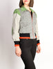 Stephen Burrows Vintage Grey Colorblock Tweed Wool Jacket