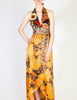 Stephen Burrows Vintage Floral Halter Wrap Dress - Amarcord Vintage Fashion  - 2