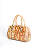 Vintage 1970s Supreme Floral Print Leather Handbag - Amarcord Vintage Fashion  - 2