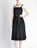 Suzy Perette Vintage Black Silk Crepe Dress - Amarcord Vintage Fashion  - 2