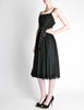 Suzy Perette Vintage Black Silk Crepe Dress - Amarcord Vintage Fashion  - 6