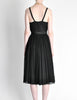 Suzy Perette Vintage Black Silk Crepe Dress - Amarcord Vintage Fashion  - 8