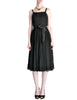 Suzy Perette Vintage Black Silk Crepe Dress - Amarcord Vintage Fashion  - 1
