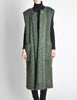 Ted Lapidus Diffusion Vintage Green Mohair Maxi Vest - Amarcord Vintage Fashion  - 2
