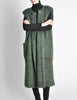 Ted Lapidus Diffusion Vintage Green Mohair Maxi Vest - Amarcord Vintage Fashion  - 4