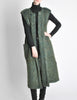 Ted Lapidus Diffusion Vintage Green Mohair Maxi Vest - Amarcord Vintage Fashion  - 3
