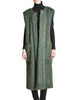 Ted Lapidus Diffusion Vintage Green Mohair Maxi Vest - Amarcord Vintage Fashion  - 1