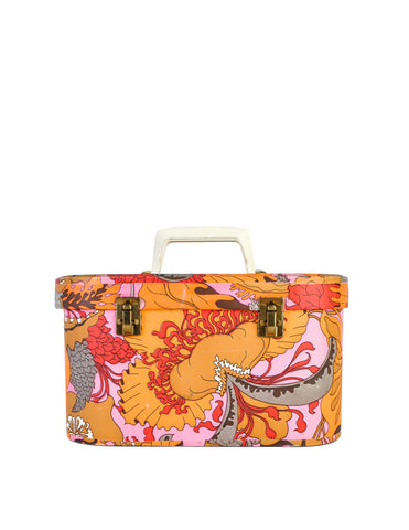 Patricia Gaile Vintage Tropical Floral Cosmetic Case