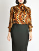 Ungaro Vintage Leopard Print Silk Turtleneck Top - Amarcord Vintage Fashion  - 2