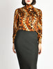 Ungaro Vintage Leopard Print Silk Turtleneck Top - Amarcord Vintage Fashion  - 4