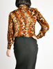 Ungaro Vintage Leopard Print Silk Turtleneck Top - Amarcord Vintage Fashion  - 7