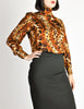 Ungaro Vintage Leopard Print Silk Turtleneck Top - Amarcord Vintage Fashion  - 6