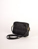 Valentino Vintage Black Woven Leather Crossbody Bag - Amarcord Vintage Fashion  - 5