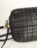 Valentino Vintage Black Woven Leather Crossbody Bag - Amarcord Vintage Fashion  - 6