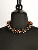 Valentino Vintage Rhinestone Encrusted Root Beer Lucite Bauble Necklace - Amarcord Vintage Fashion  - 4