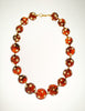Valentino Vintage Rhinestone Encrusted Root Beer Lucite Bauble Necklace - Amarcord Vintage Fashion  - 2