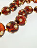 Valentino Vintage Rhinestone Encrusted Root Beer Lucite Bauble Necklace - Amarcord Vintage Fashion  - 6
