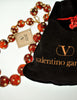 Valentino Vintage Rhinestone Encrusted Root Beer Lucite Bauble Necklace - Amarcord Vintage Fashion  - 9