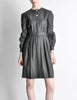 Valentino Vintage Charcoal Grey Wool Dress - Amarcord Vintage Fashion  - 3