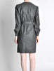 Valentino Vintage Charcoal Grey Wool Dress - Amarcord Vintage Fashion  - 6