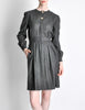 Valentino Vintage Charcoal Grey Wool Dress - Amarcord Vintage Fashion  - 2
